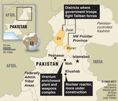 Pakistani trouble areas